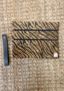 ACCESSORIES TIGER Brown Zebra Makeup Bag