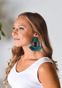 ACCESSORIES TURQUOISE Lucky Lady Earrings in Turquoise