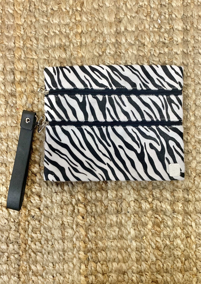 ACCESSORIES ZEBRA White Zebra Makeup Bag