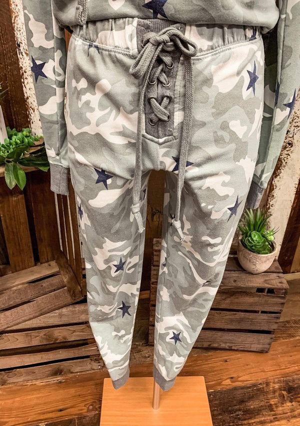 BOTTOMS S / CAMO See It Through Joggers