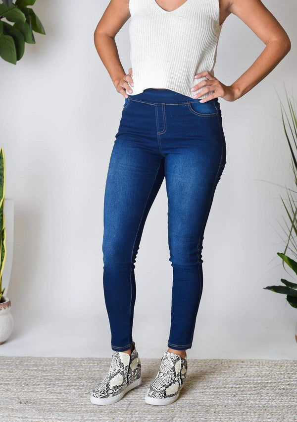 BOTTOMS S / INDIGO Blue Jean Baby Jeggings