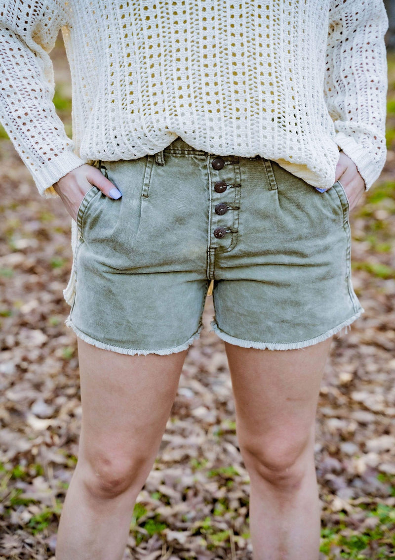 BOTTOMS S / OLIVE Going Places Shorts