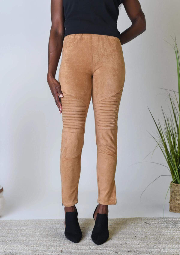 BOTTOMS S / WALNUT Sweet Suede Leggings in Walnut