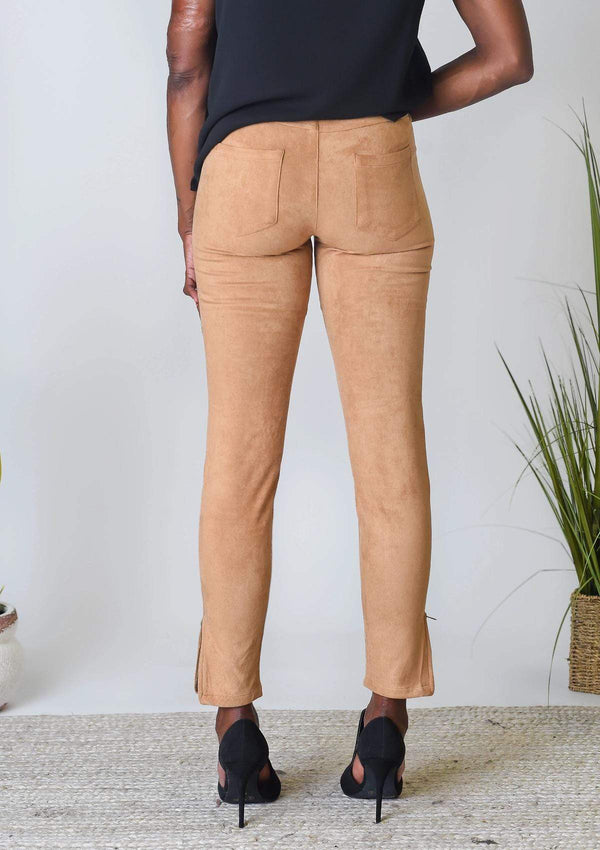 BOTTOMS Sweet Suede Leggings in Walnut