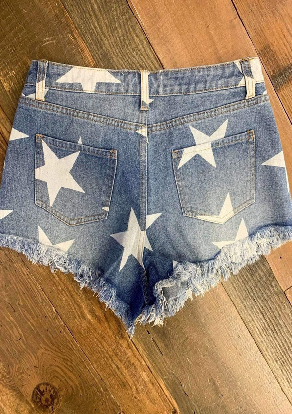 BOTTOMS Trend Setter Star Shorts