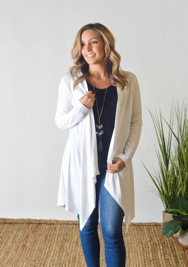 CARDIGANS S / WHITE Taking Sides Cardigan