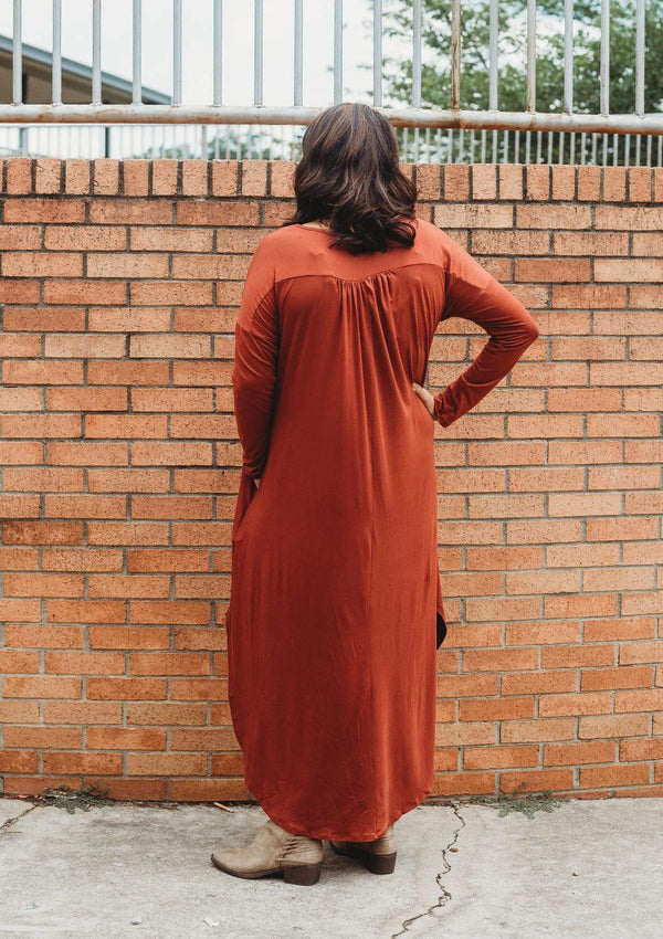DRESSES Fall for You Dress in Rust