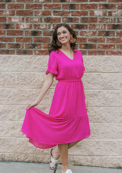 DRESSES S / HOTPINK In Your Arms Dress