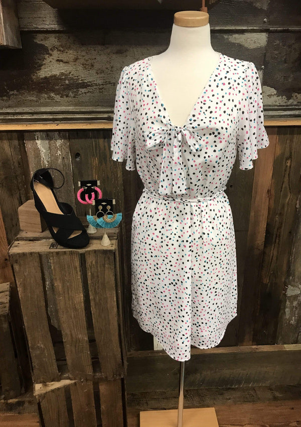 DRESSES S / IVORYMULTI Sunday Best Spotted Dress