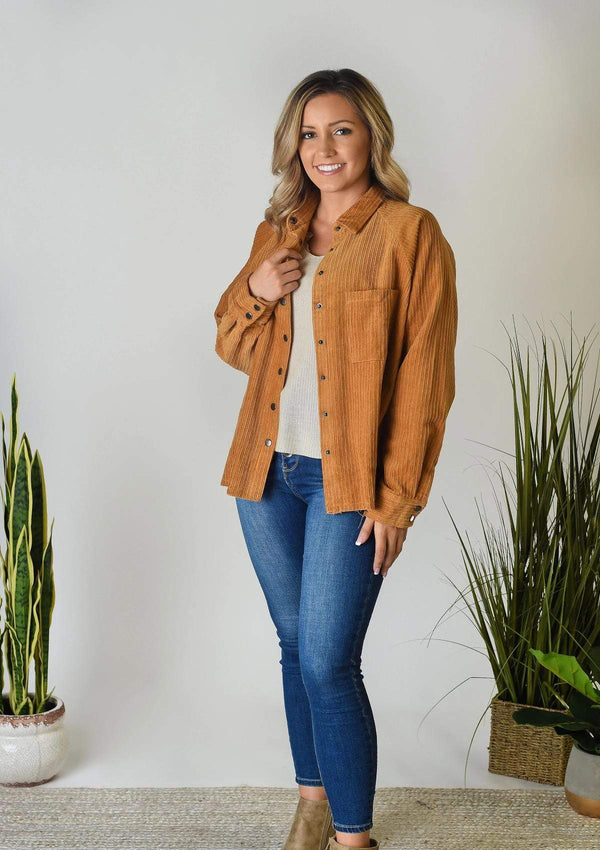 JACKETS S / Camel Time Machine Corduroy Jacket
