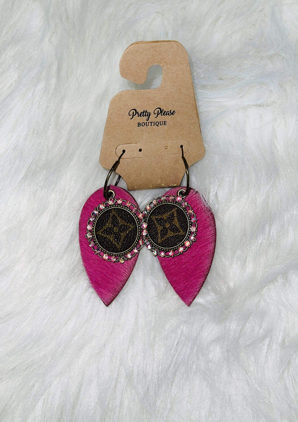 LV Repurposed Leather Earrings