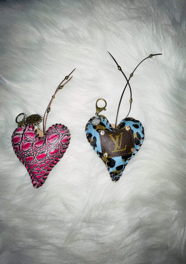 PINK LV Repurposed Heart Chain