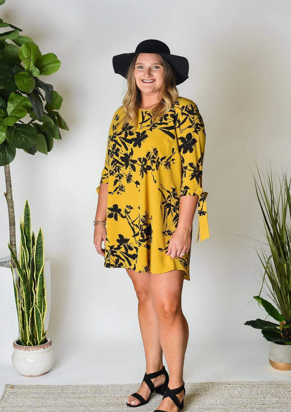 PLUS DRESSES 1X / MUSTARD I'm Yours Mustard Plus Dress