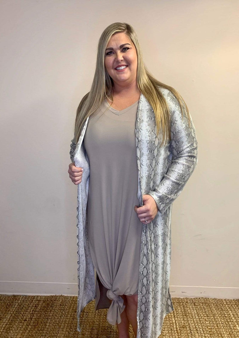 PLUS DRESSES Day Dreams Dress In Taupe In Plus