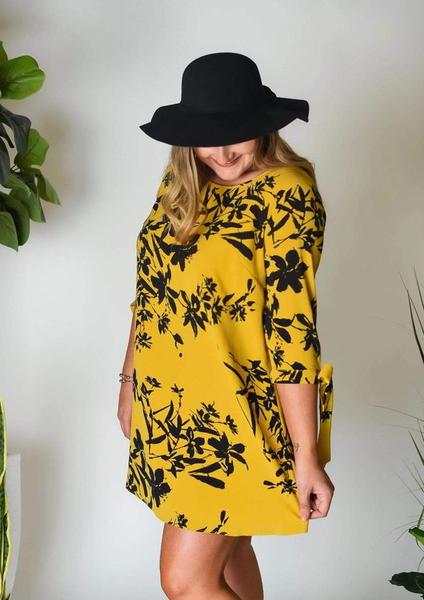 PLUS DRESSES I'm Yours Mustard Plus Dress