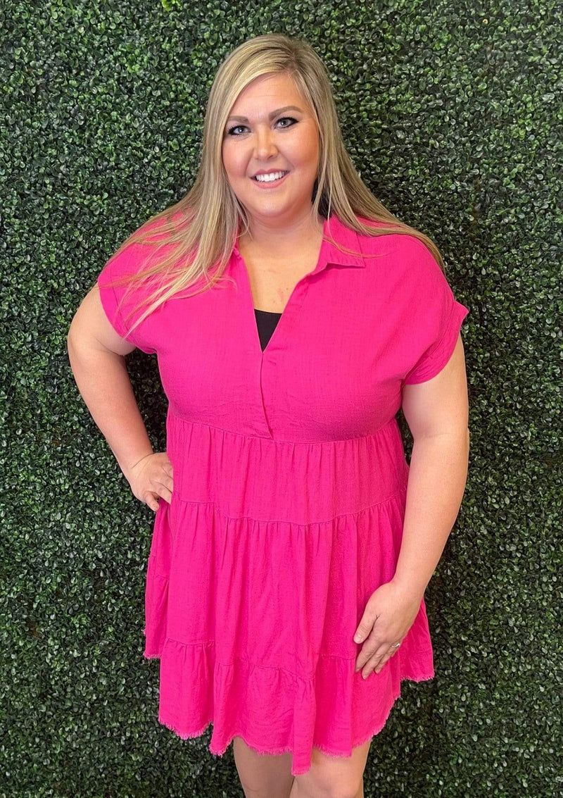 PLUS DRESSES Pink Kisses Dress In Plus