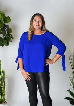 PLUS TOPS 1X / ROYAL BLUE Wild About Blue Plus Top