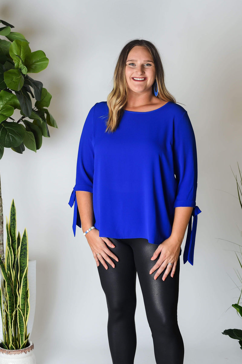 PLUS TOPS Wild About Blue Plus Top