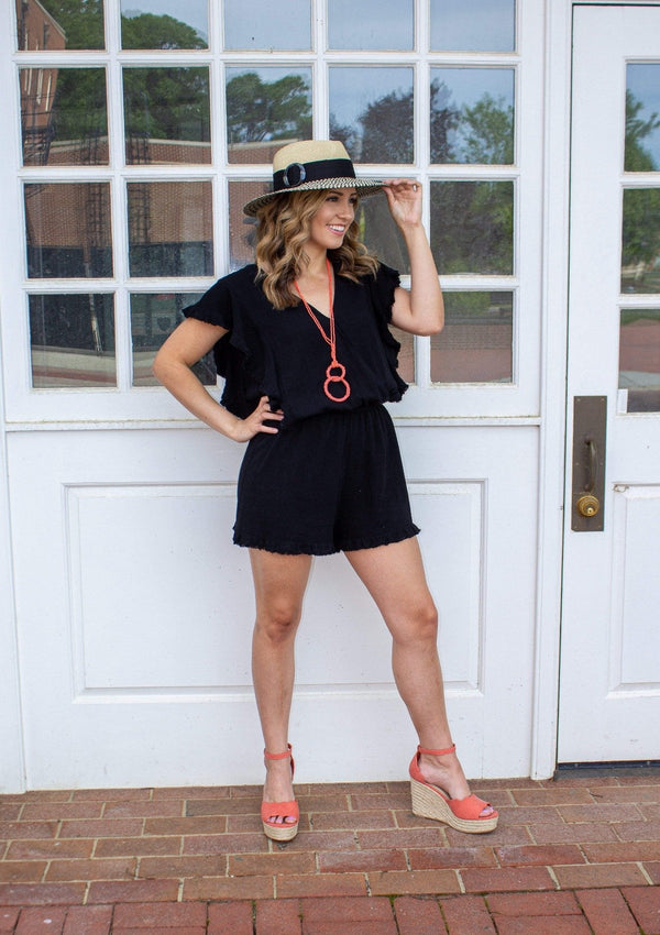 ROMPERS S / BLACK Night Out Romper