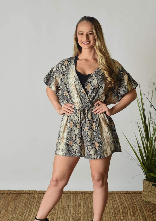 ROMPERS S / SNAKESKIN MULTI Hollywood Snakeskin Romper
