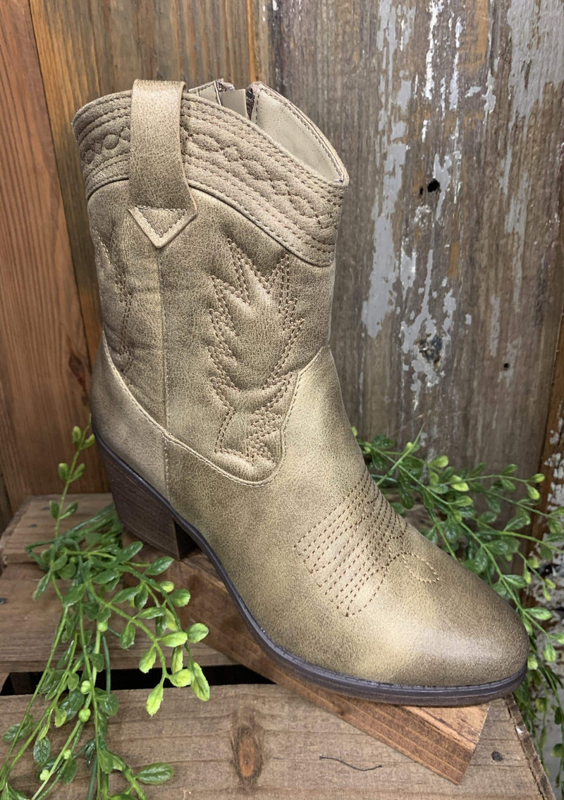 SHOES 5.5 / TAUPE Cowgirl Up Boots In Nude