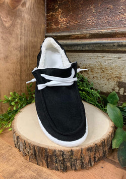 SHOES 6 / BLACK Basic Black Slide Ons