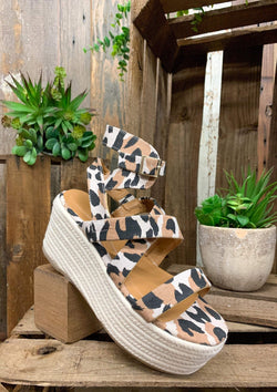 Meant For Me Wedges in Leopard