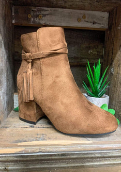 SHOES 6 / TAN Southern Girl Booties In Tan