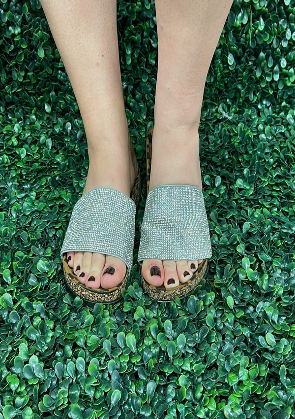 SHOES 7 / SILVER Sequin Stunner Slide Ons