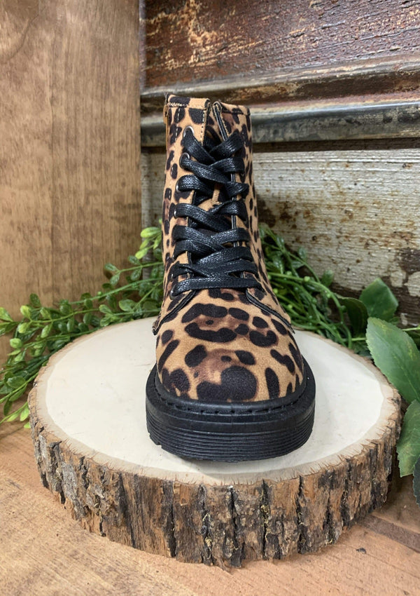 SHOES Combat Boots In Leopard