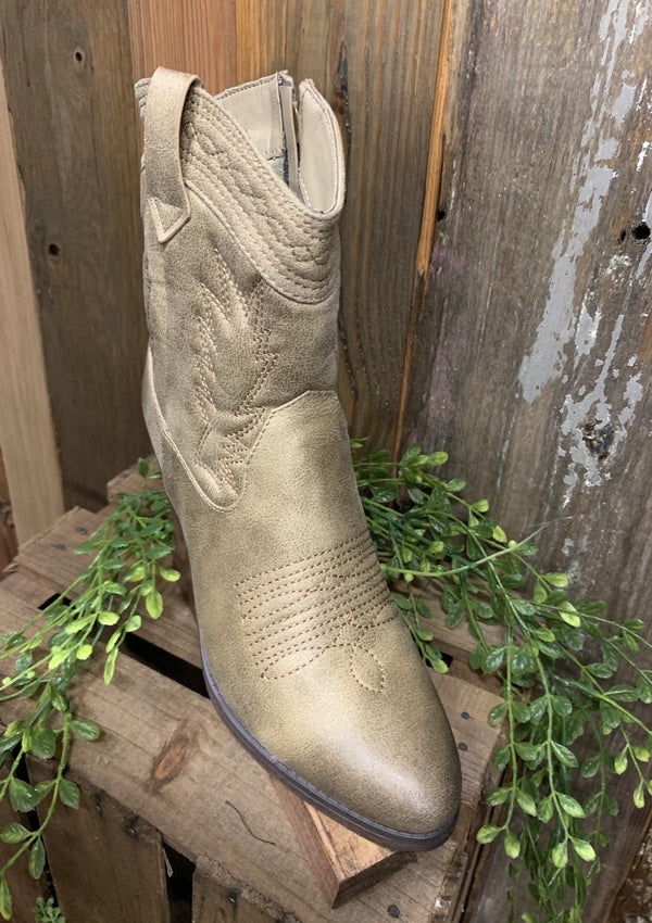 SHOES Cowgirl Up Boots In Nude