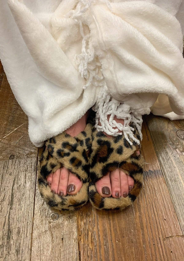 SHOES Leopard Slippers
