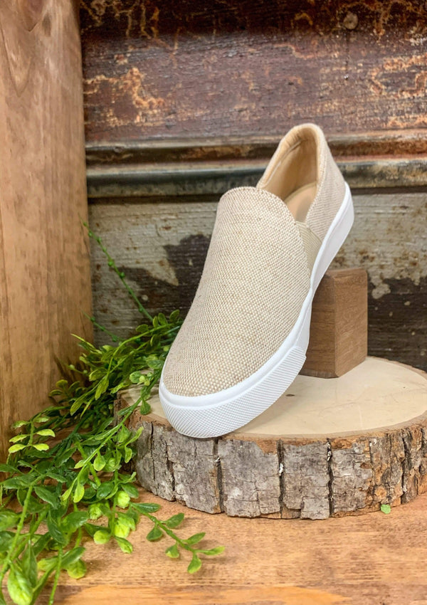 Ridge Slide On Sneakers In Beige