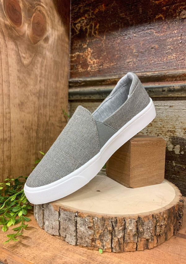Ridge Slide On Sneakers In Grey
