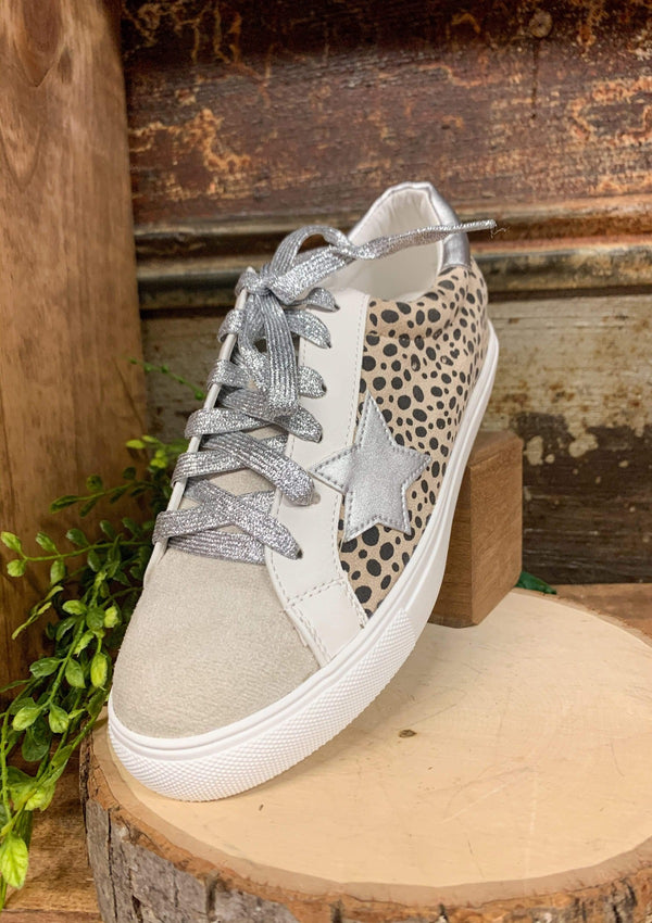 Spike Lace Up Sneakers