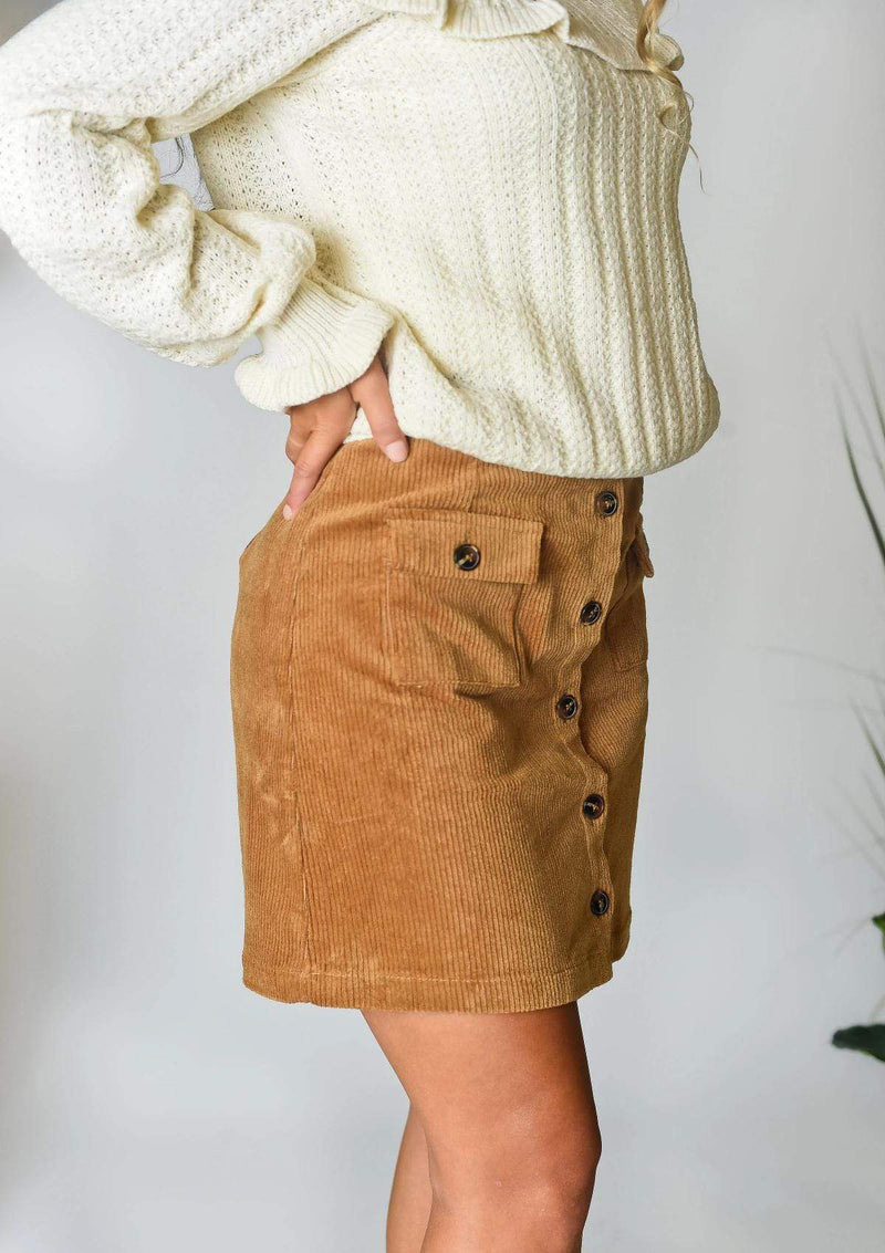 SKIRTS Committed To You Camel Mini Skirt