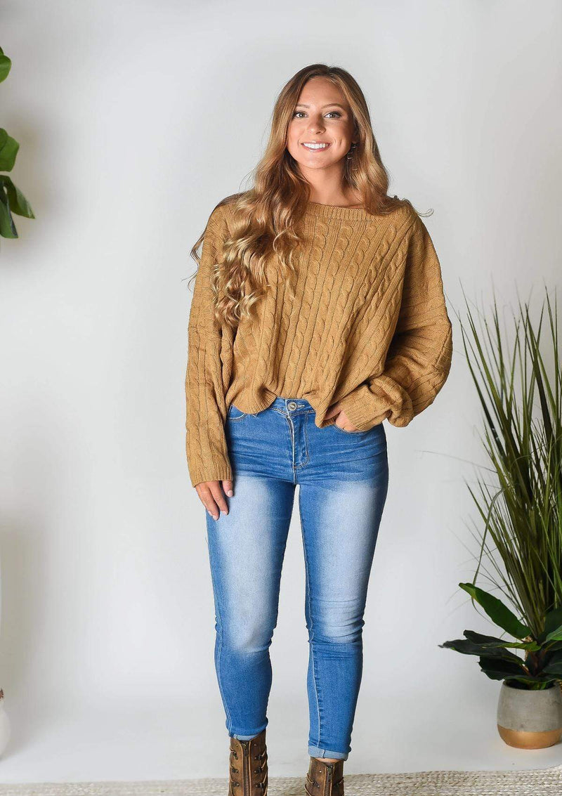 SWEATERS S / MOCHA My Type Cropped Sweater