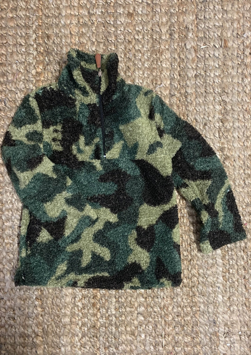 Camo Print Sherpa Youth