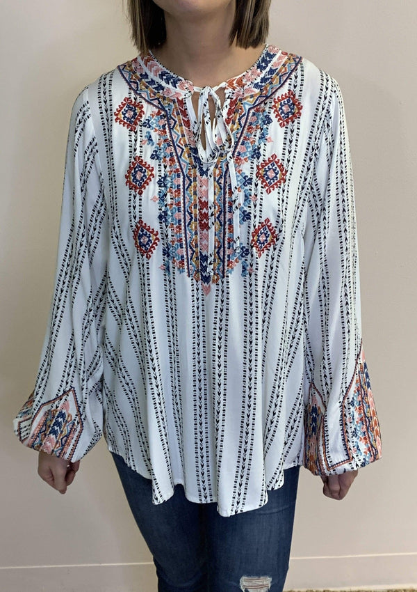 TOPS Aztec Way Top