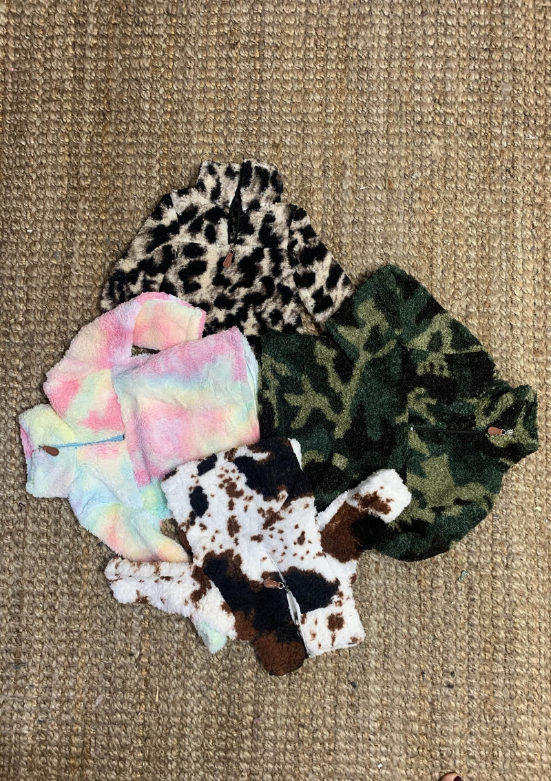 TOPS Camo Print Sherpa Youth