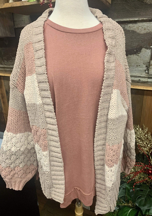 TOPS Cozy Christmas Morning Cardigan