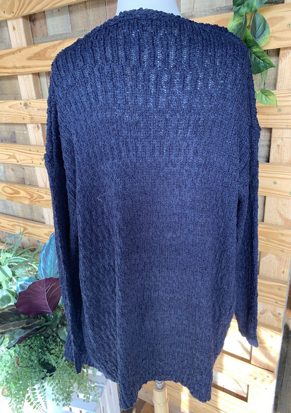 TOPS Fall Breeze Cardigan In Navy