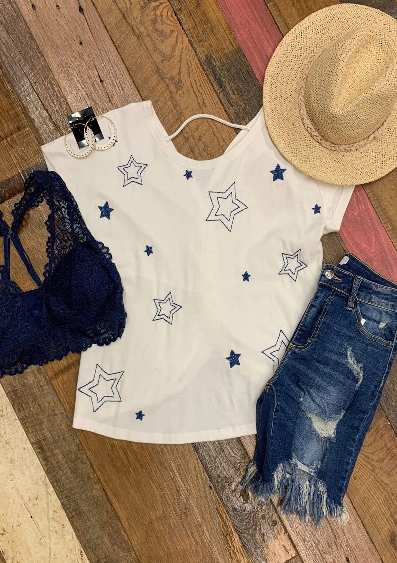 TOPS IVORY / S Starstruck Top