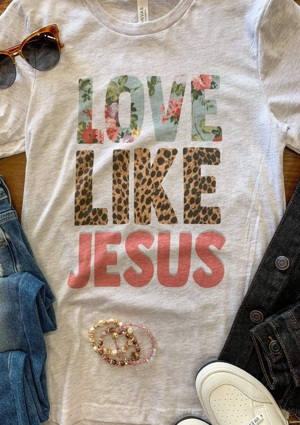 TOPS Love Like Jesus Tee