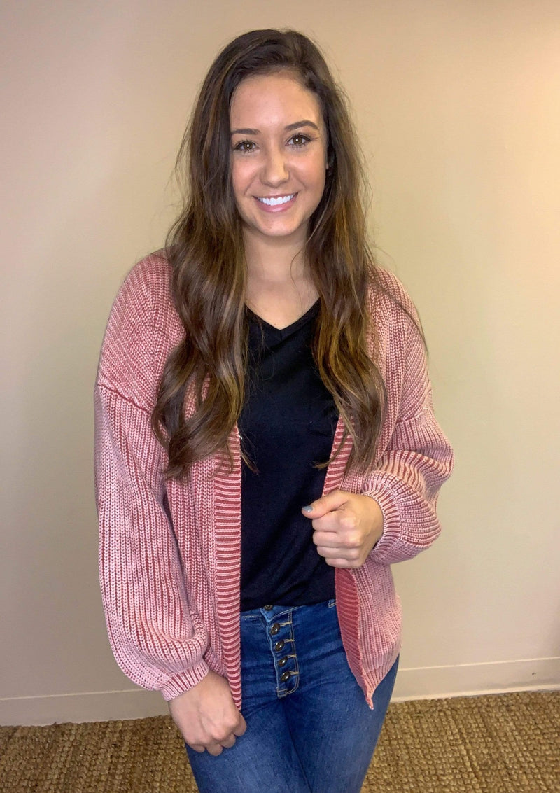 TOPS On Repeat Cardigan In Brick