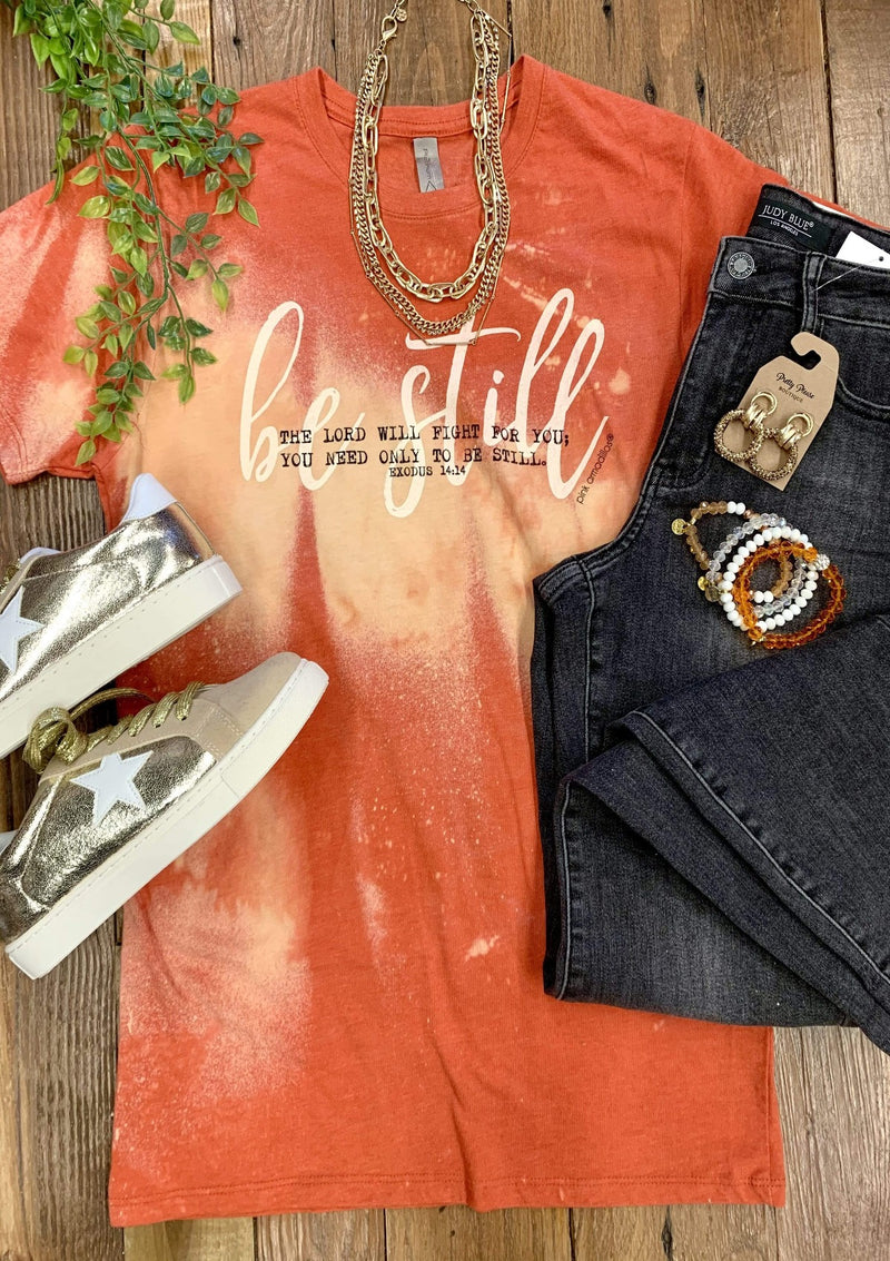 TOPS S / AUTUMN Be Still Tee