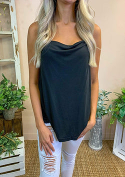 TOPS S / BLACK All Night Long Tank Top in Black