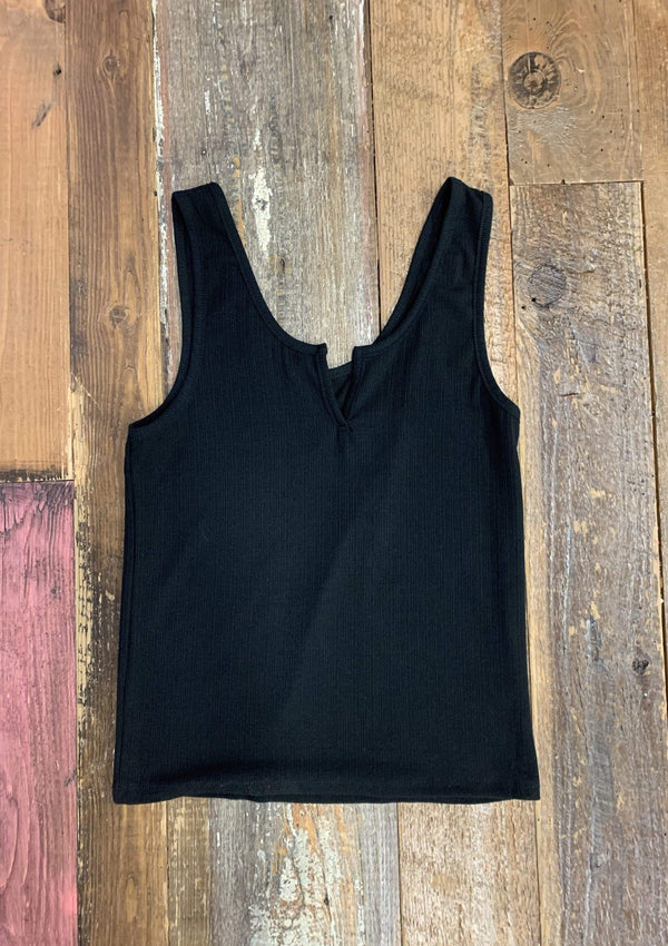 Count On Me Tank Top in BLACK