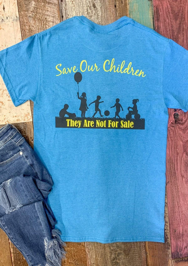 TOPS S / BLUE Save The Children Tshirt In Blue