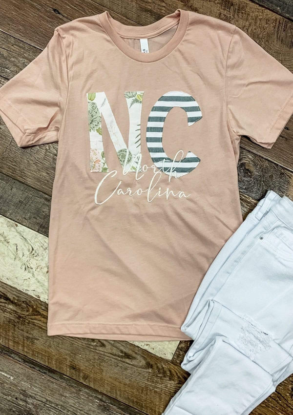 TOPS S / CORAL NC Tee In Coral